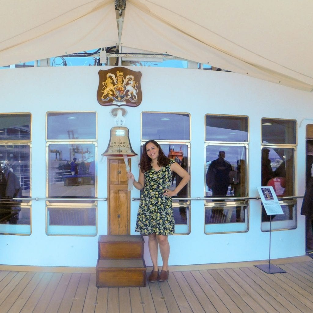 Sarah Fay on the Royal Yacht