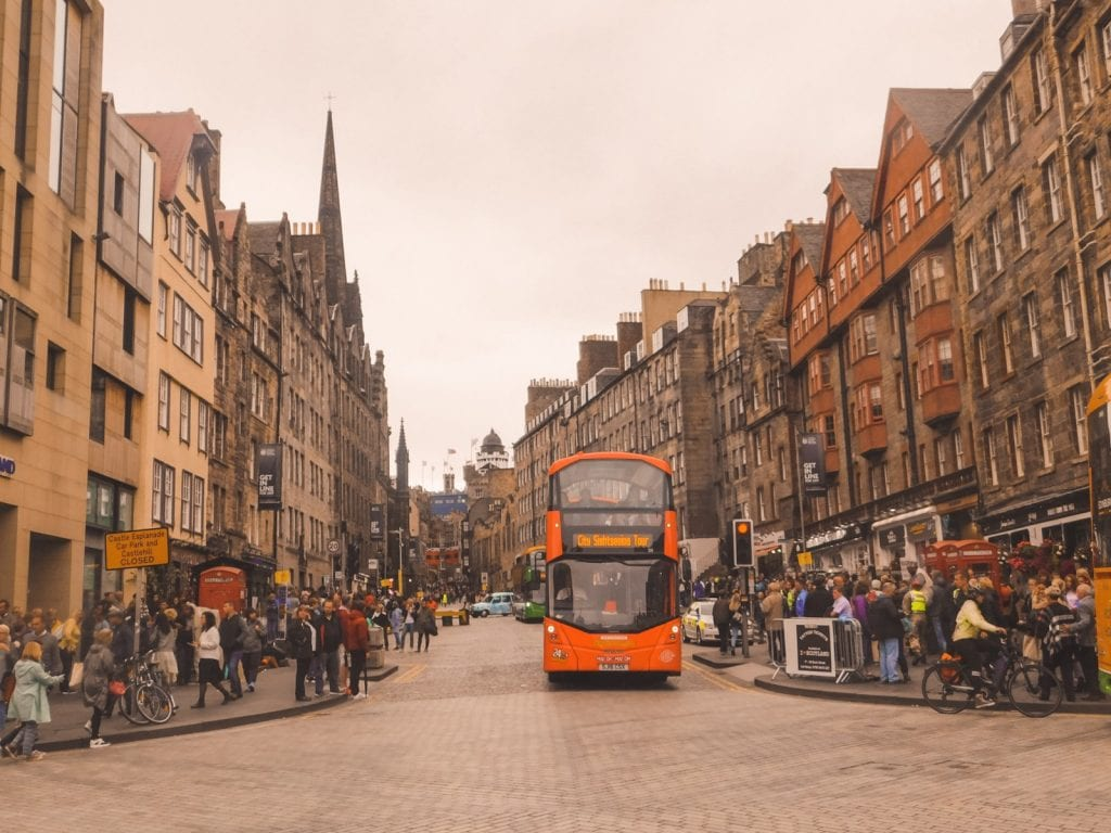 The Royal Mile a street in Edinburgh