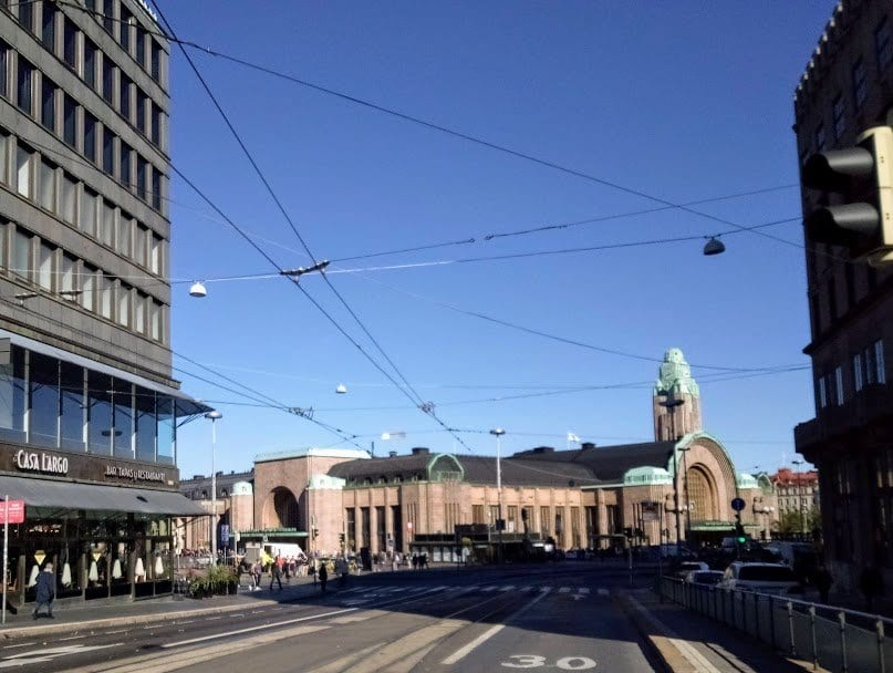 Central Train Station Helsinki the most visited building in Finland.