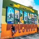 Sarah Fay infront of Orlando Street Art