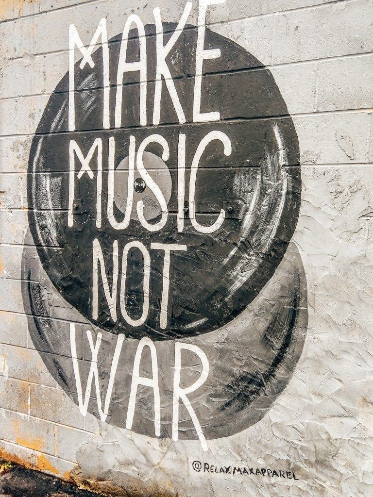 Make Music Not War in 12 South Neighborhood Nashville, TN