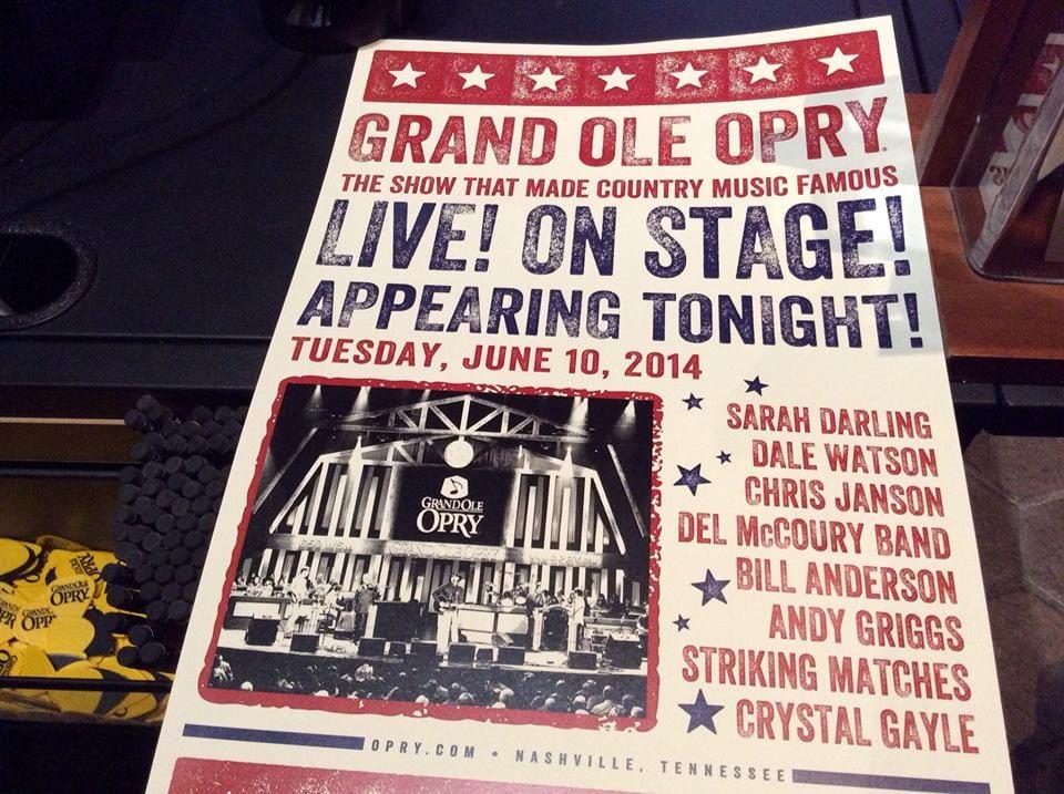 Hatch Print Grand Ole Opry Show Bill