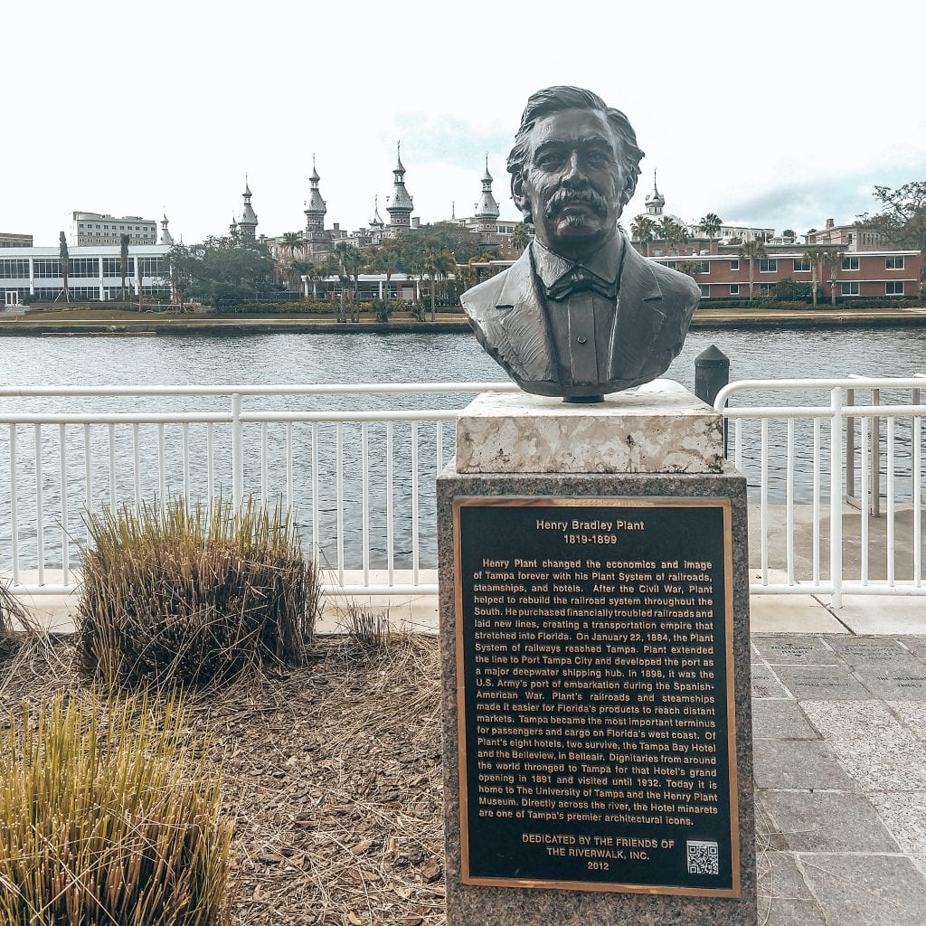 Henry Plant railroad tycoon who also build the USF Building in background.