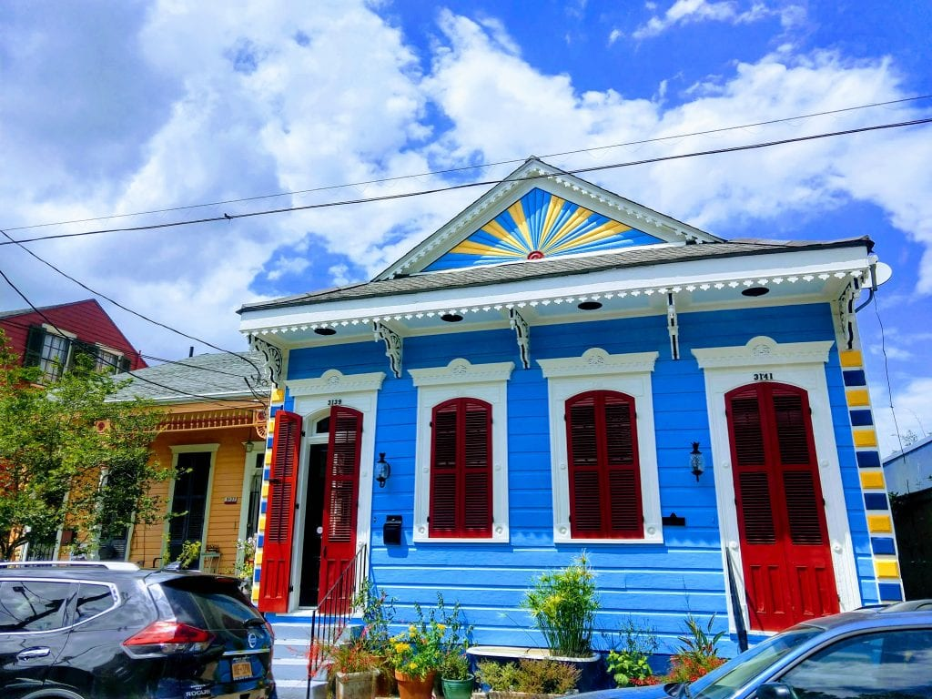 Colorful building in the Bywater Neighborhood.