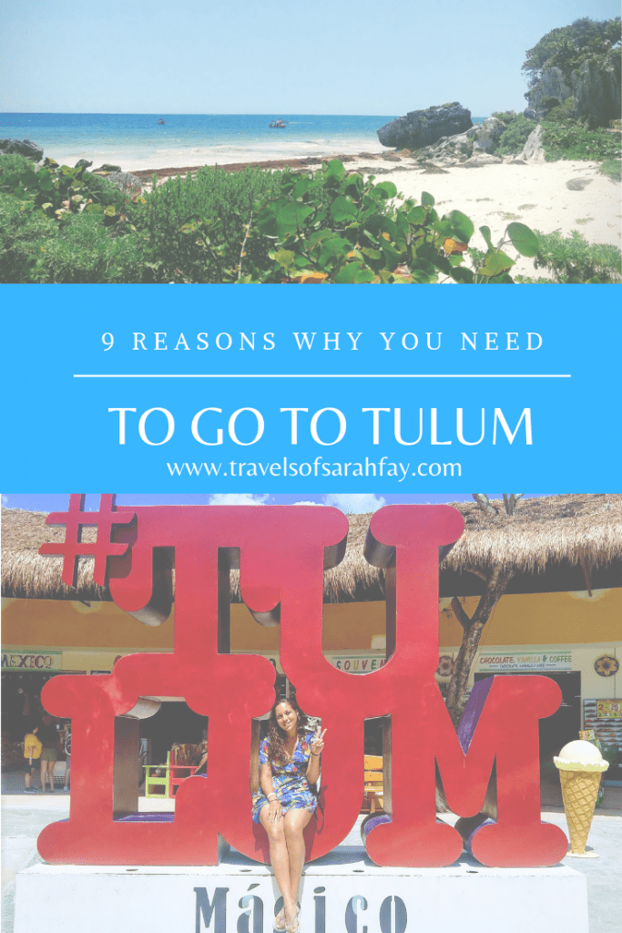 Tulum Mexico 9 reasons why you need to go! The beaches are paradise, the ruins are some of the oldest you will see in the world, and the nightlife as well as food will make you love life. Come to #visittulum and check out this #travelguide