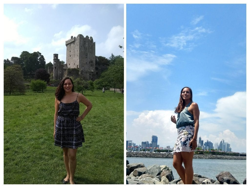 Before and after photo of Sarah Fay travel blogger after embracing sober life #soberissexy
