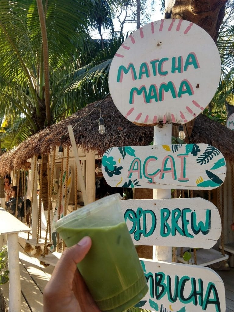 Matcha Mama in tulum Mexico and a Matcha Latte