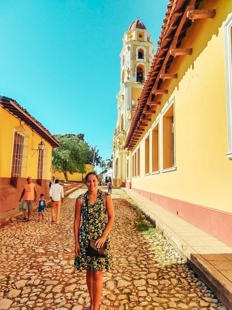 Sarah Fay travel blogger in Trinidad Cuba.