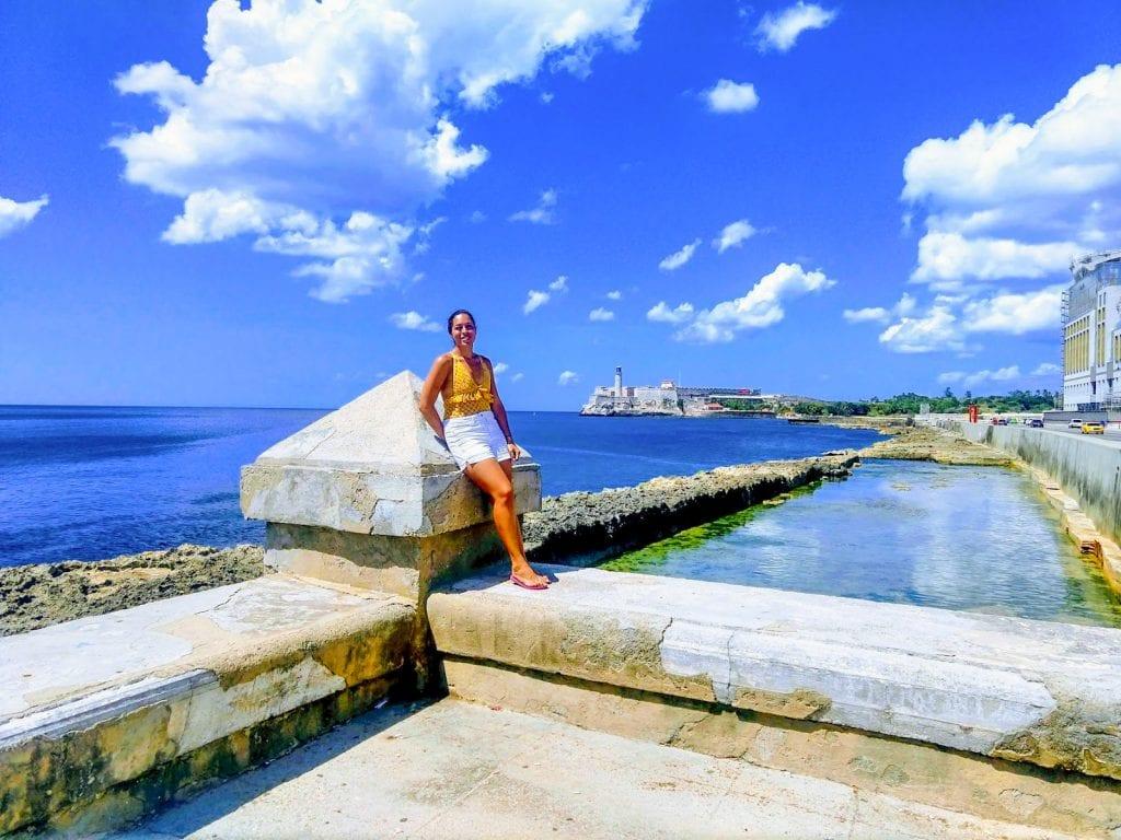 Sarah Fay on the Malecon Havana, Cuba