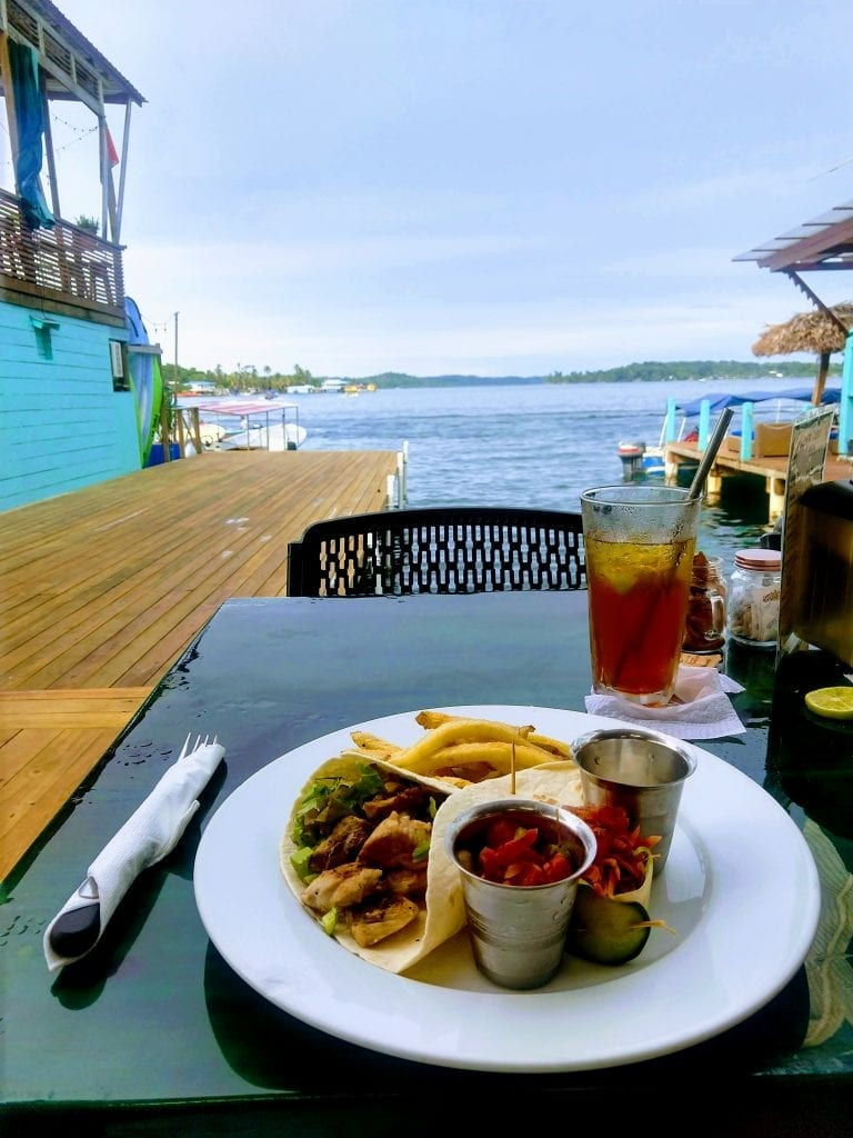 Fish Tacos at Buena Vista Restaurant one of the best restaurants in Bocas Town in Bocas Del Toro Panama. #visitpanama