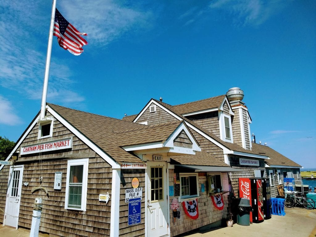 Chatham Pier Fish Market in Chatham, Massachusetts, USA. Best seafood.
