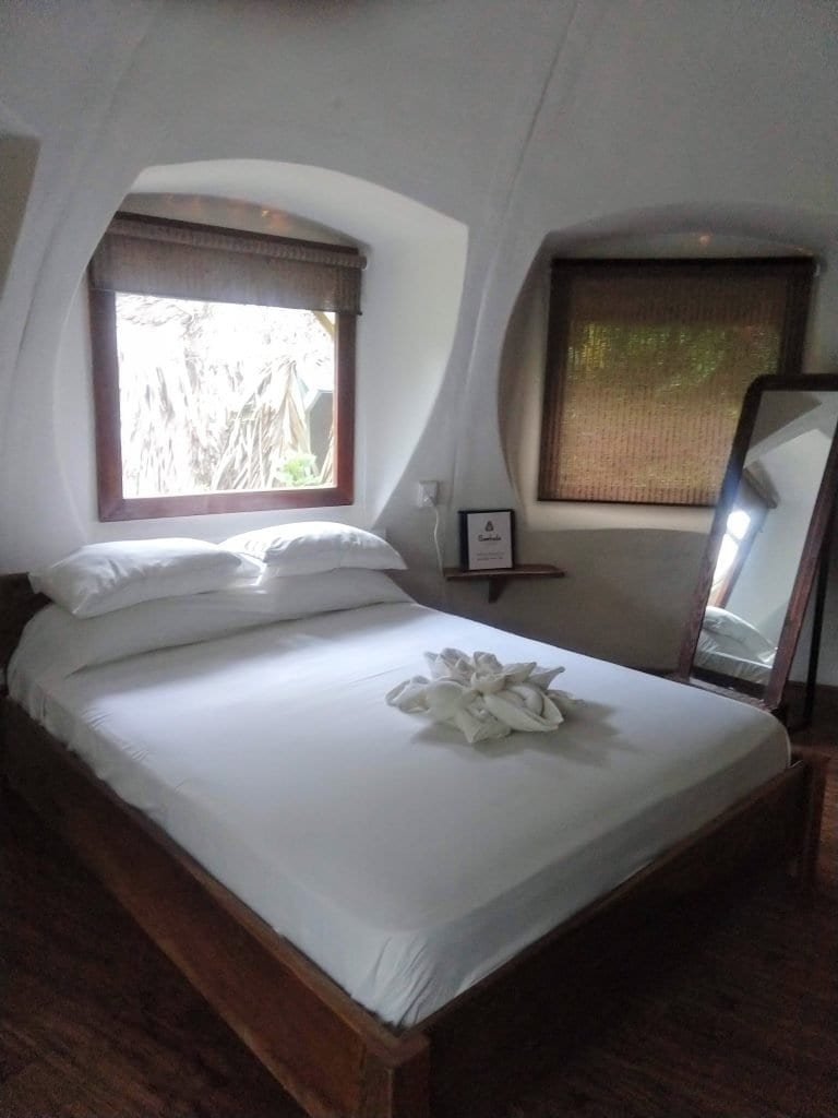 Interior of the Bungalow at Bambuda lodge and eco friendly accomadation in Bocas Del Toro. #VisitPanama