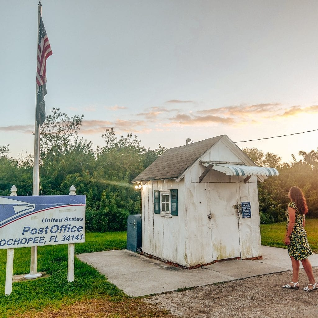The smallest post office in the USA is located on the Tamiami Trail. #visitflorida #everglades
