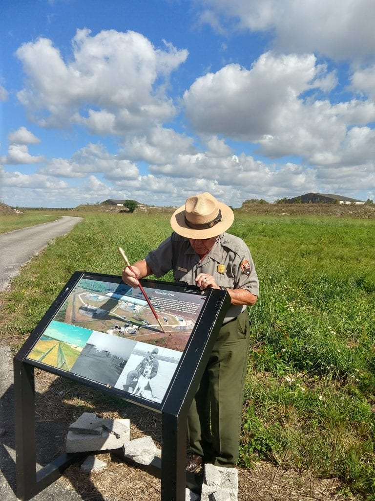 National Park Service Ranger gives a tour of an old army base used for missile launch and defense during the Cuban missile crisis. #visitflorida #everglades