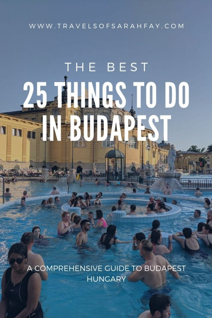 The Best 25 things to do in Budapest Hungary. From where to go, stay, and the best not to miss experiences in Hungary's capital city. #visitbudapest #budapesttravelguide