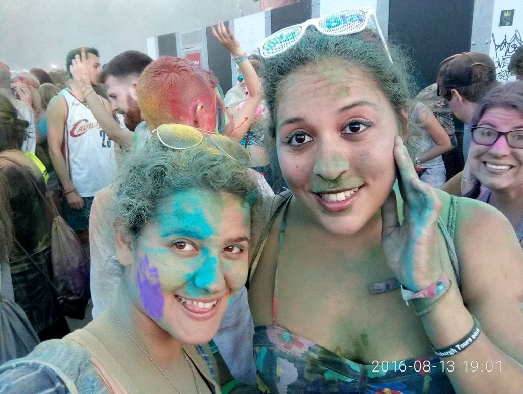 Sziget the best festival ever on Margaret Island in Budapest. After the color party where I felt like I was in Holi in India. #visitbudapest #travelbudapest