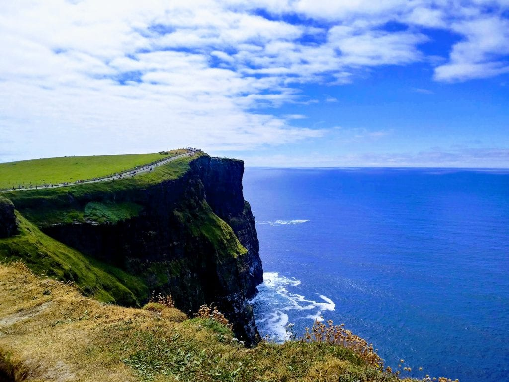 Cliffs of Moher on a Sunny Day on West Coast of Ireland.
