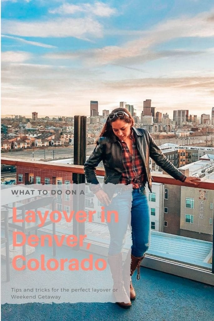 What to do for a layover in Denver? The low-cost light rail gives you plenty of time to explore Denver. Here is a guide for your short stay in the capitol. #denvercolorado #denvertravelguide