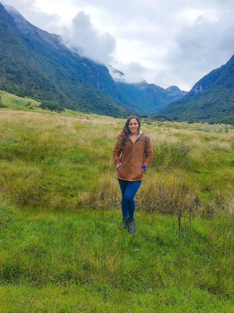 Sarah Fay in Cajas National Park after part of the hike around Lake Llaviucu. #VISITECUADOR #cajasnationalpark