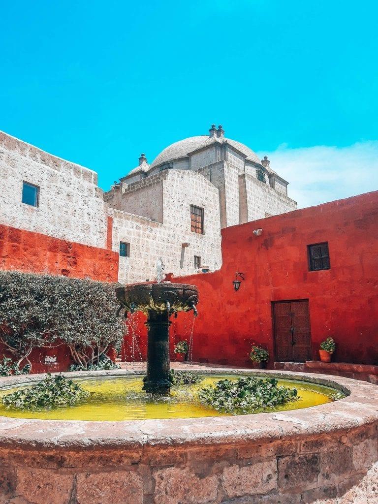 Monastery of Santa Catalina in Arequipa, Peru.