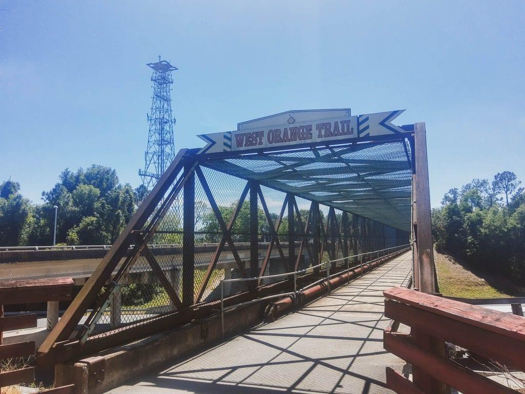 West Orange Bike Trail Bridge.