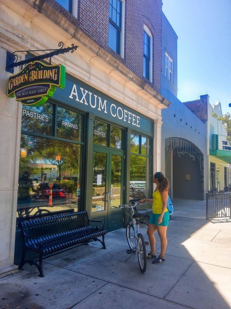 After a long ride on the trail, Axum Coffee is a must.