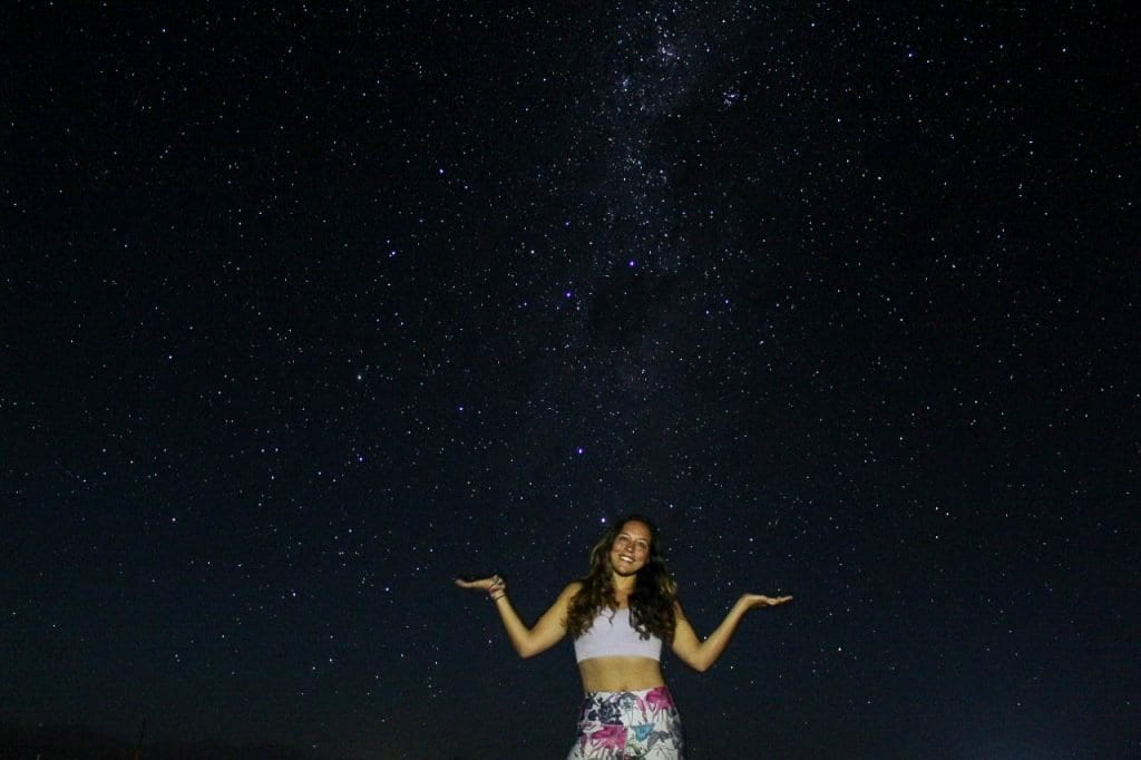 The best astronomy tour ever in the Atacama Desert for stargazing. Yes, that's the Milky Way.