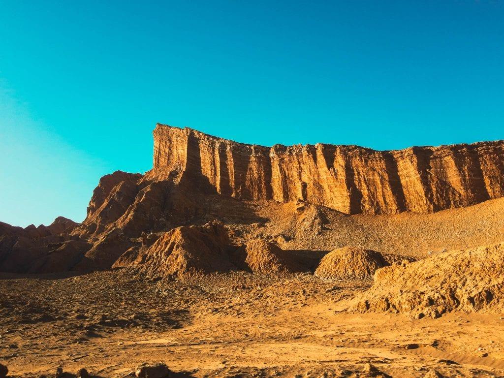 Valle de La Luna at Sunset a short drive from San Pedro de Atacama, Chile.