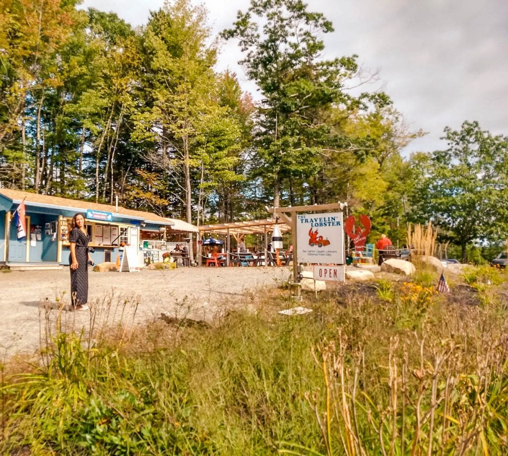Lobster is a must in Maine at the Travelin Lobster on Mount Desert Island in Maine.