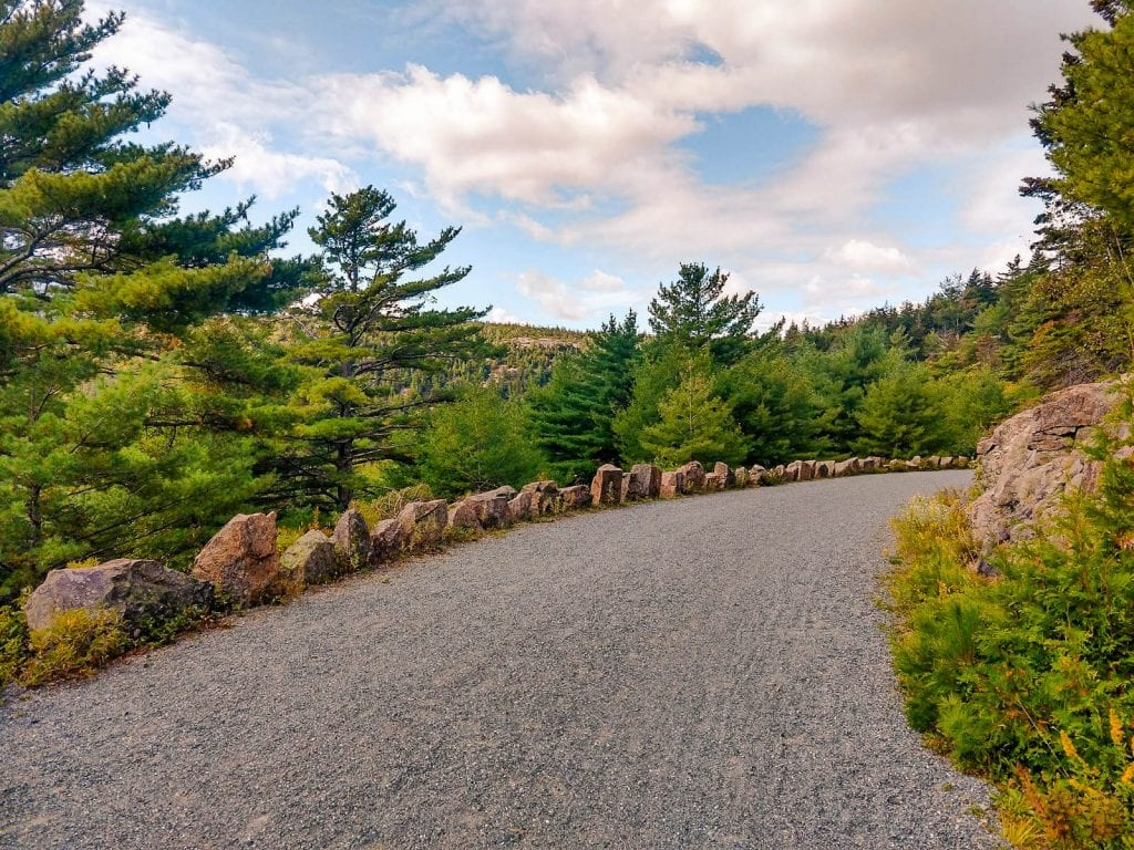 Historic Carriage Roads are all throughout Acadia National Park in Bar Harbor, Maine.Acadia National Park in Maine.