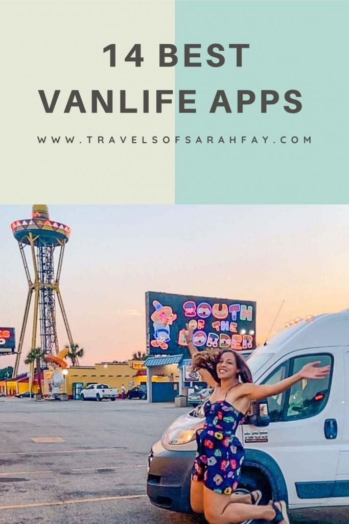 14 Best Vanlife Apps for your next adventure on the road. These apps help practically to find free campsites, cool campsites, and also build community through crowdsourced information. #vanlife #campervan #roadtrip