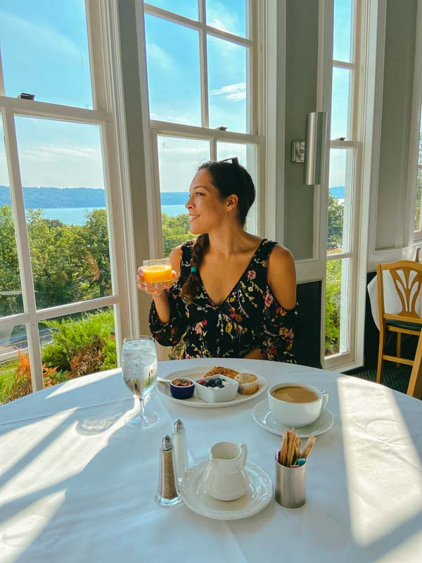 Breakfast in the Jones Dining Room at the Inn at Taughannock.