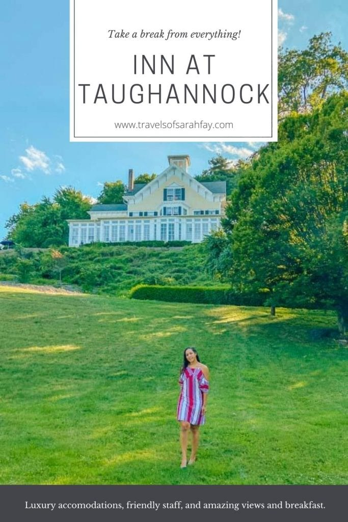 An Honest Review of the Inn at Taughannock in the Finger Lakes Region of New York. The luxurious and charming Inn has some of the best views of Lake Cayuga and private access to Taughannock Falls State Park. #charminginns #victorianhomes #hotels #travel