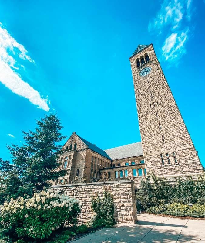 Cornell University's library in Ithaca New York in the Finger Lakes Region.