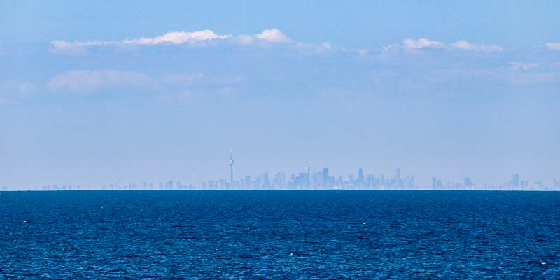 View of Toronto, Canada and Lake Ontario from Old Fort Niagara State Park. Another great thing to do in Niagara Falls Region on the American Side of the Falls.