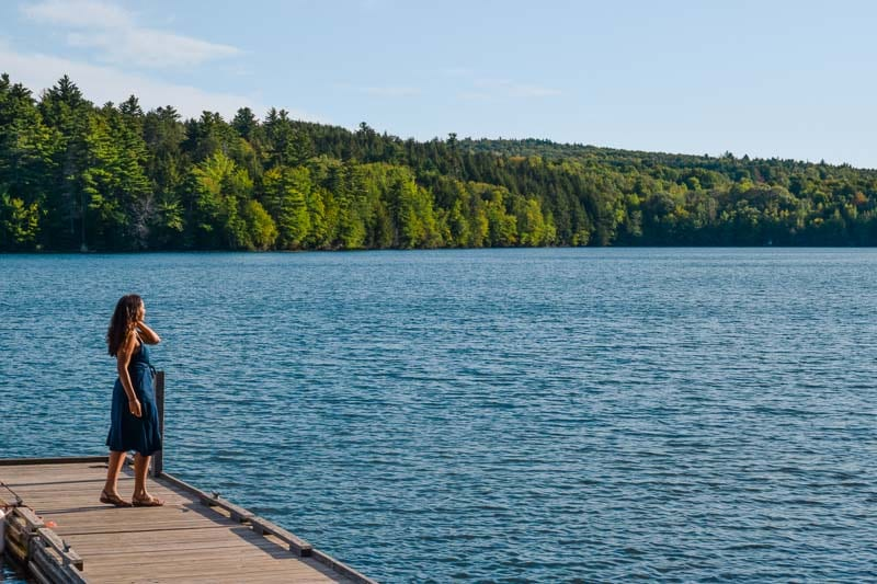 Sustainable tourism includes visiting lakes and outdoors places like this that are less visited in Maine.