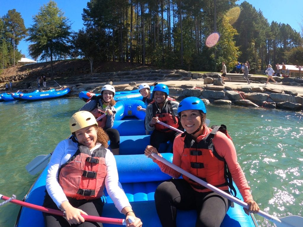 One amazing outdoor thing to do in charlotte, nc is go whitewater rafting at the US Whitewater national center!