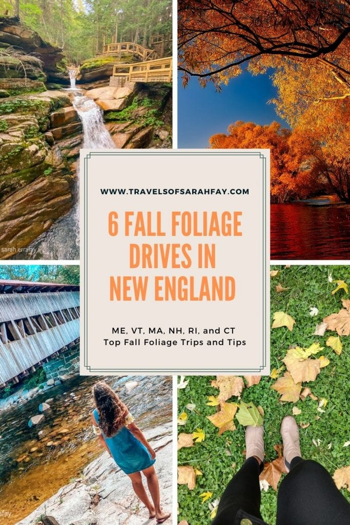 Fall Foliage in New England offers the best autumn fall sceneries in the USA. Here is a fall road trip guide to New England across 6 states.