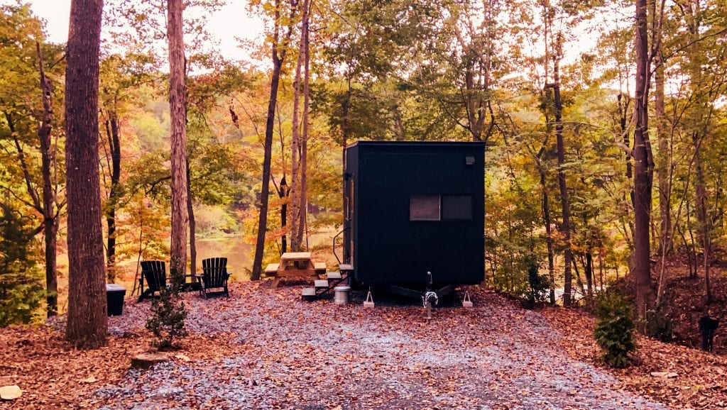 Getaway House Asheboro offers amazing tiny home cabin rentals in the woods and gets urban dwellers into nature.