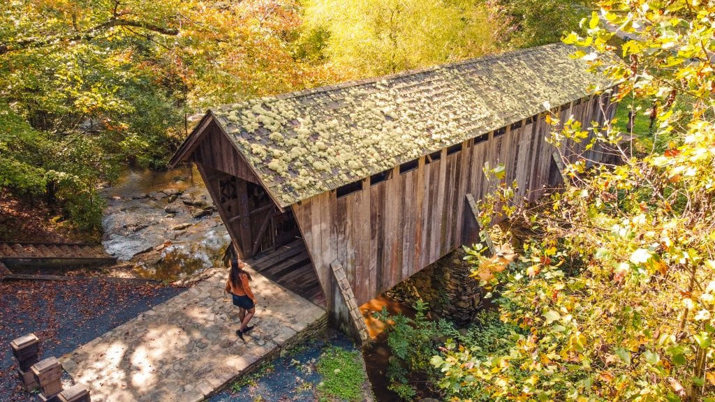 Pisgah Covered Bridge is located in the Uwharrie National Forest and is close to the Getaway House Outpost Asheboro North Carolina.