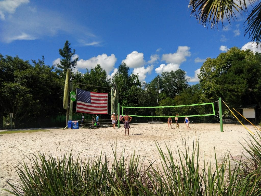 Wekiva Island has a great beach volleyball court.