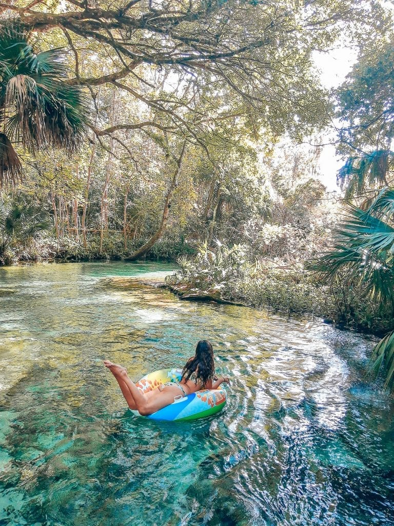 Rock Springs is a fun and clear blue spring with crystal clear water where you can float down a short run.