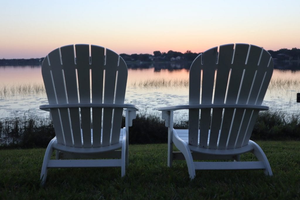 Staycation Orlando at westgate lakes resort. Two adirondack chairs.