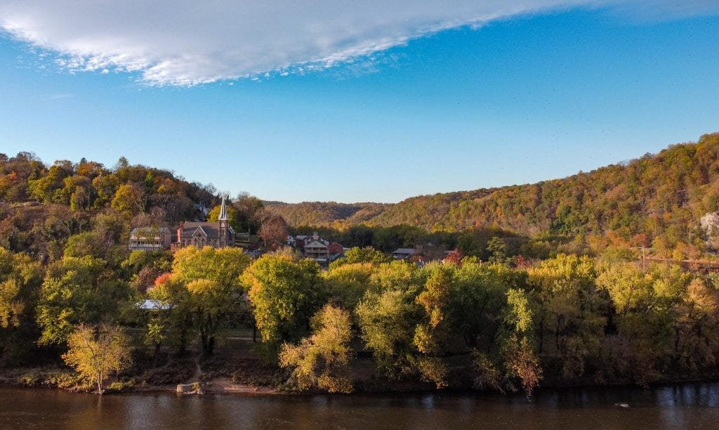 Harpers Ferry is a thing you must do in West Virginia. Skyline of Harpers Ferry.