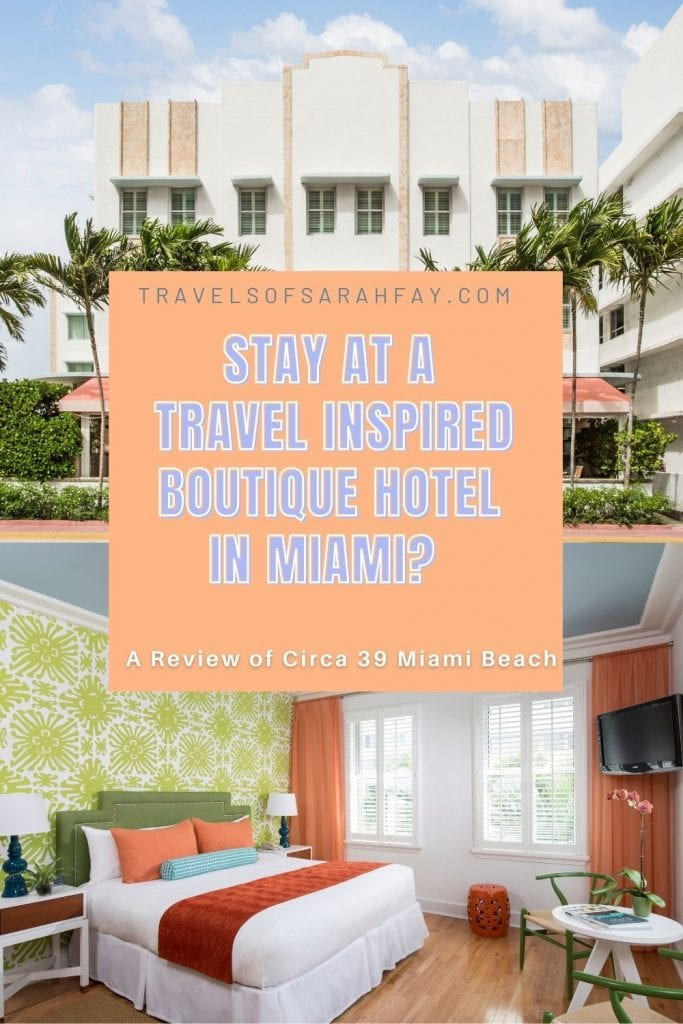 Travel inspired Boutique Hotel in Miami will make your wanderlust spirit feel at home. A review of my colorful hotel room and friendly stay. Circa 39 Miami Beach offers a perfect place to relax and enjoy the beautiful Miami Beach and explore different neighborhoods.
