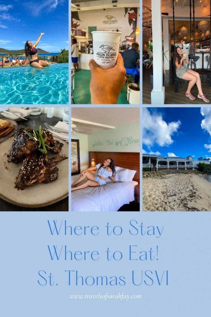 Best place to stay in St. Thomas and where to eat in St. Thomas, USVI.