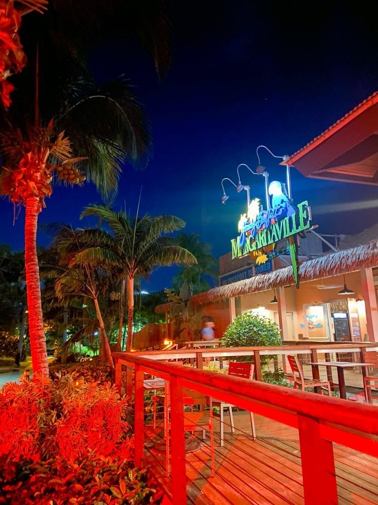 best place to stay in st Thomas and one of the best spots to eat in St. Thomas is Margaritaville Vacation Club
