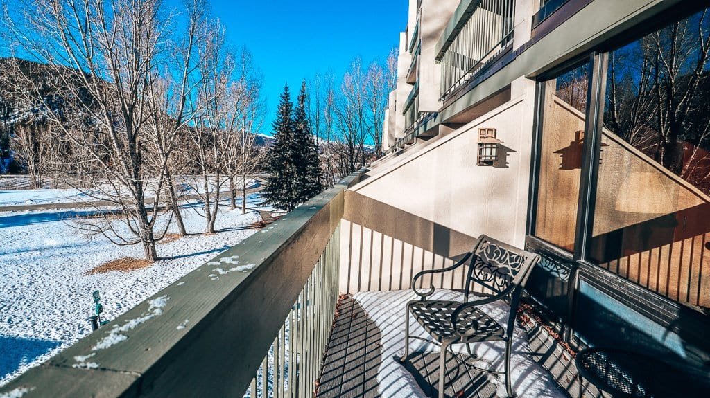 Keystone Resort Lodging balcony room view at Keystone Lodge and Spa