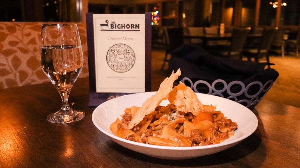 Bolognese pasta with bison at Bison Bistro at Keystone Lodge And Spa.