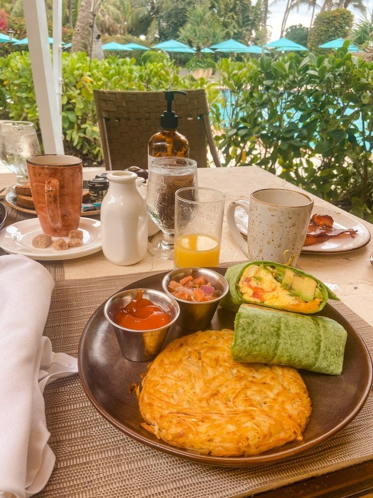 luxury hotel in Miami offers a great breakfast for guests at the Palms hotel and spa